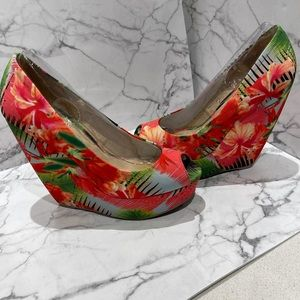 HP❤️🔥Worn Once- Aldo Colourful Wedge Shoes